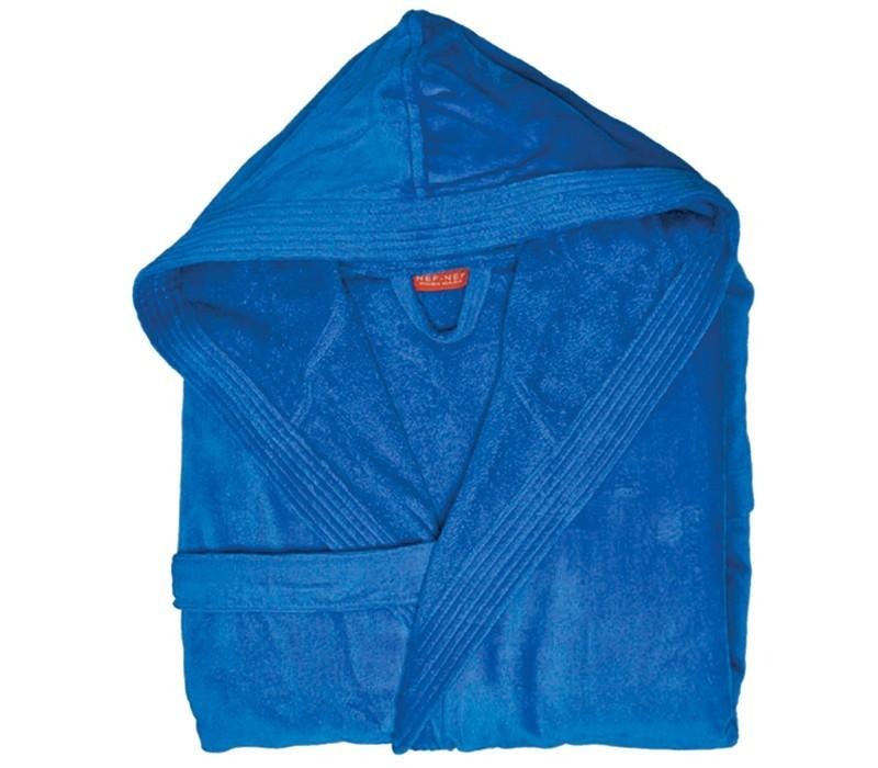 Μπουρνούζι Με Κουκούλα Nef-Nef Traffic Royal Blue LARGE LARGE