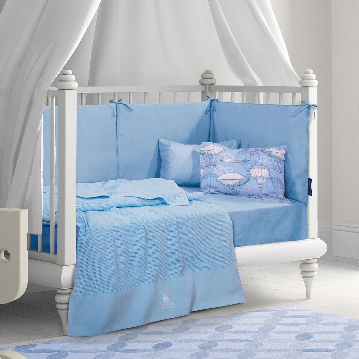 Κουβέρτα Πλεκτή Κούνιας Polo Club Essential Baby 2964