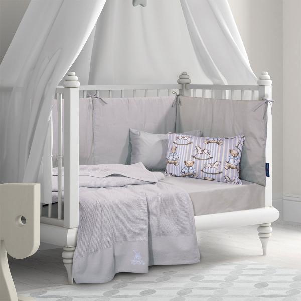 Κουβέρτα Πλεκτή Κούνιας Polo Club Essential Baby 2965