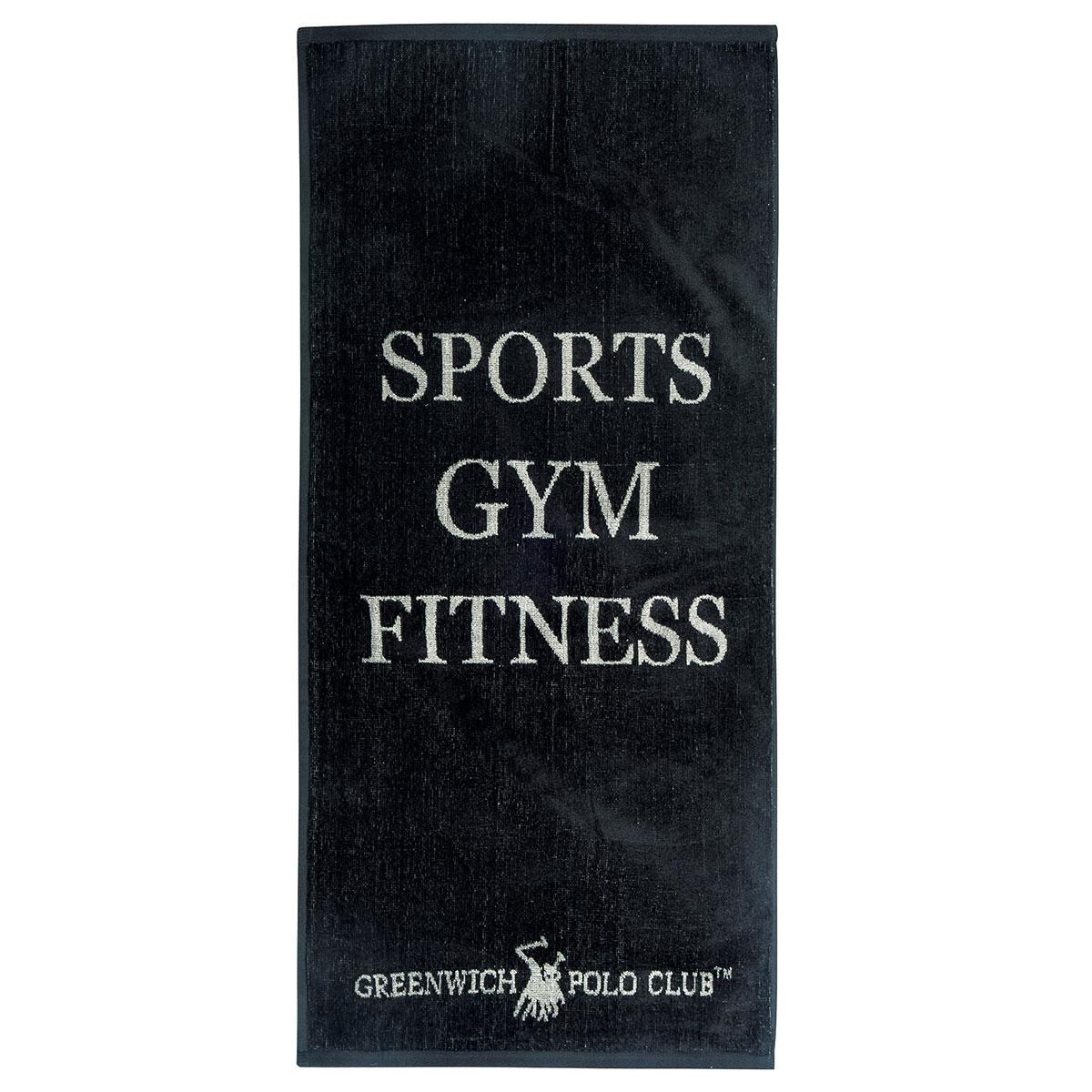 Πετσέτα Γυμναστηρίου (45×90) Polo Club 2560 Black