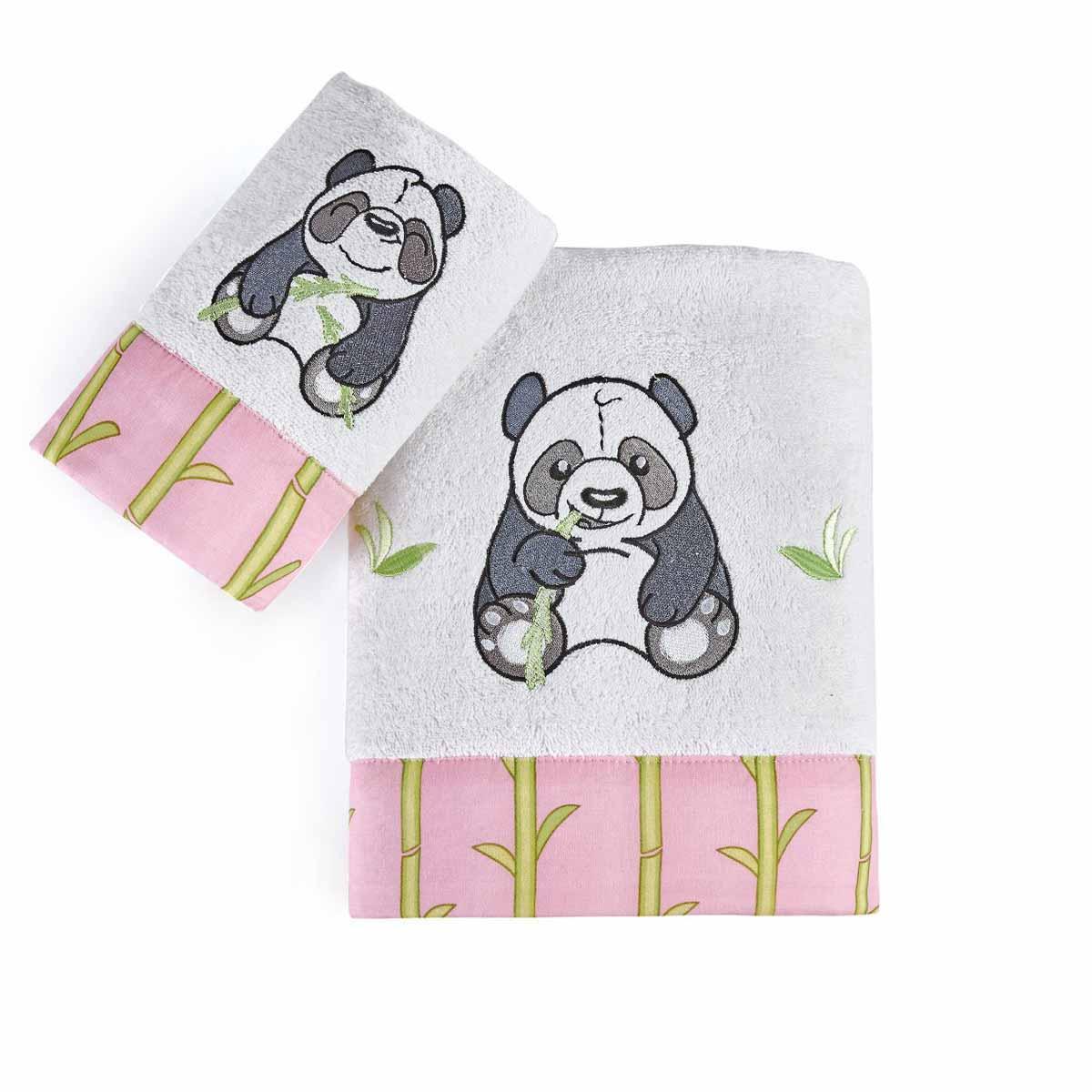 Παιδικές Πετσέτες (Σετ 2τμχ) Kentia Kids Panda