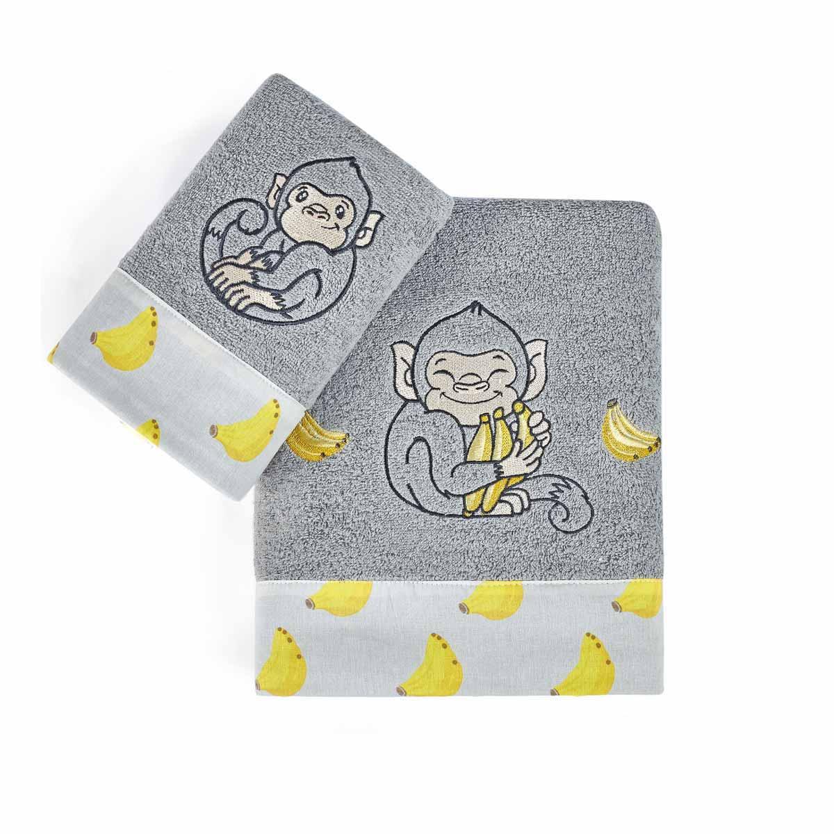 Παιδικές Πετσέτες (Σετ 2τμχ) Kentia Kids Banana