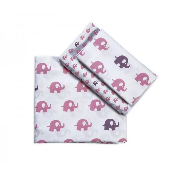 Σεντόνια Κούνιας (Σετ) Nef-Nef Baby Barrus Pink