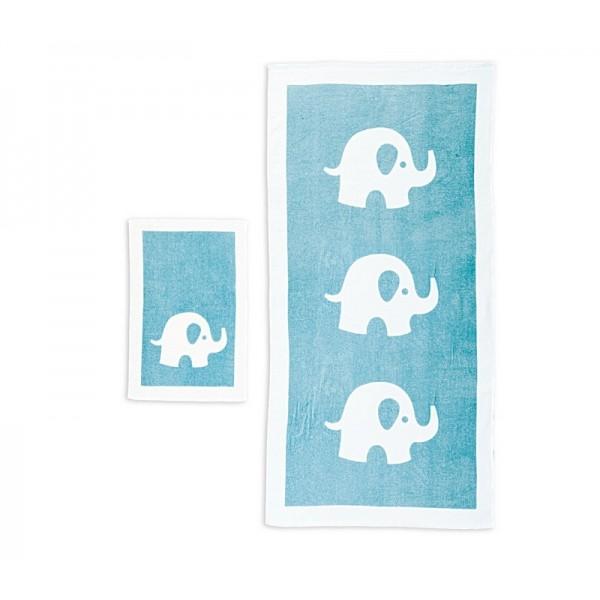 Βρεφικές Πετσέτες (Σετ 2τμχ) Nef-Nef Baby Barrus Aqua
