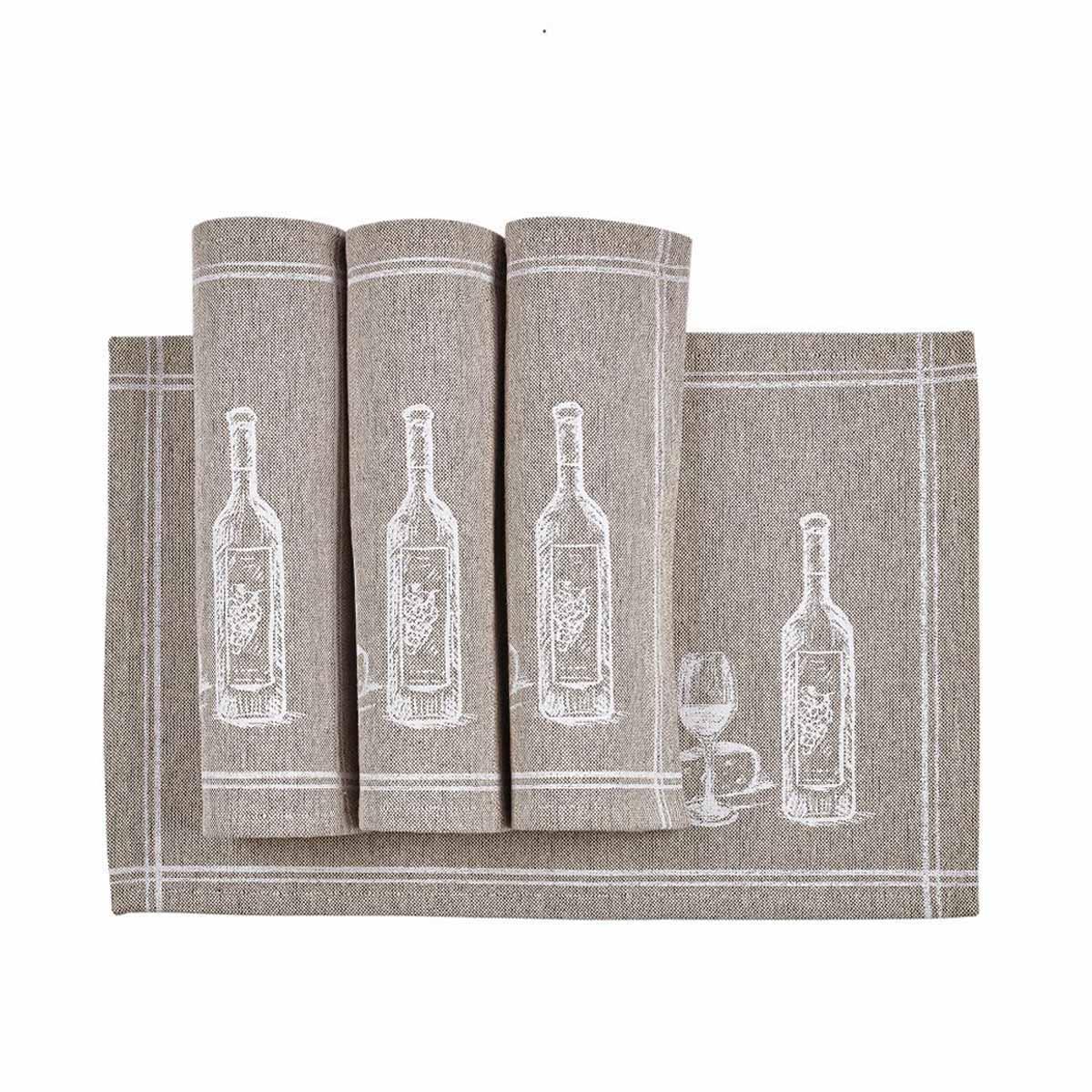 Σουπλά (Σετ 4τμχ) Kentia Loft Wine