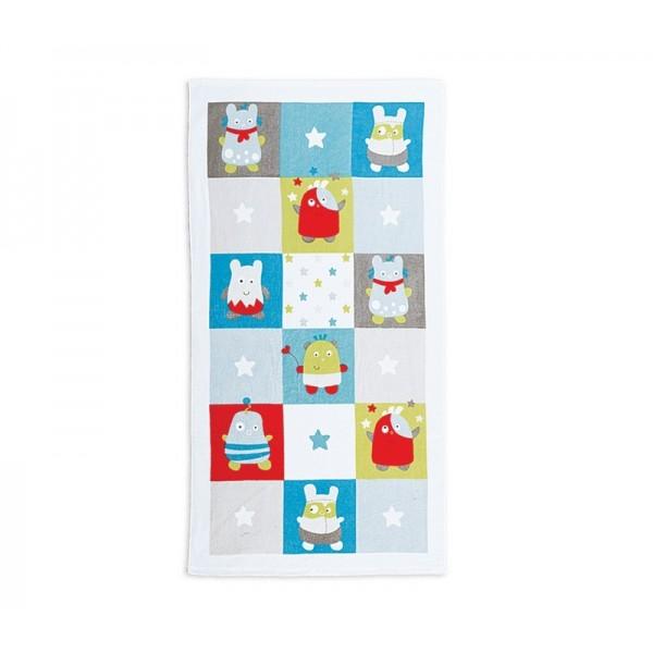 Πετσέτα Σώματος (70x140) Nef-Nef Baby Happy Monsters Aqua