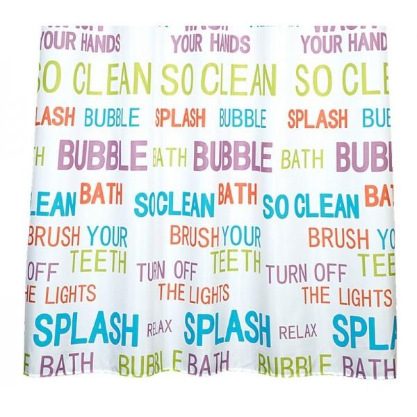 Κουρτίνα Μπάνιου (180x180) Nef-Nef Bubble Bath White