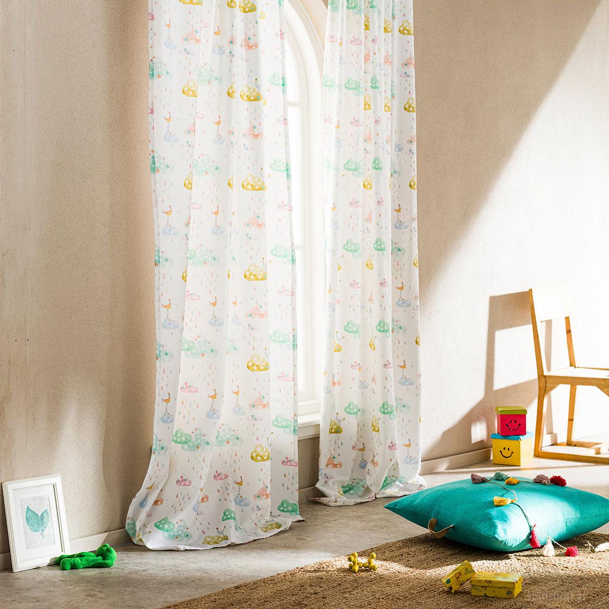 Παιδική Κουρτίνα (150×280) Με Τρέσα Gofis Home Luvia 728