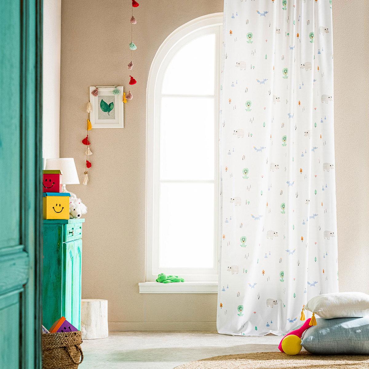 Παιδική Κουρτίνα (150×280) Με Τρέσα Gofis Home Zooland 898