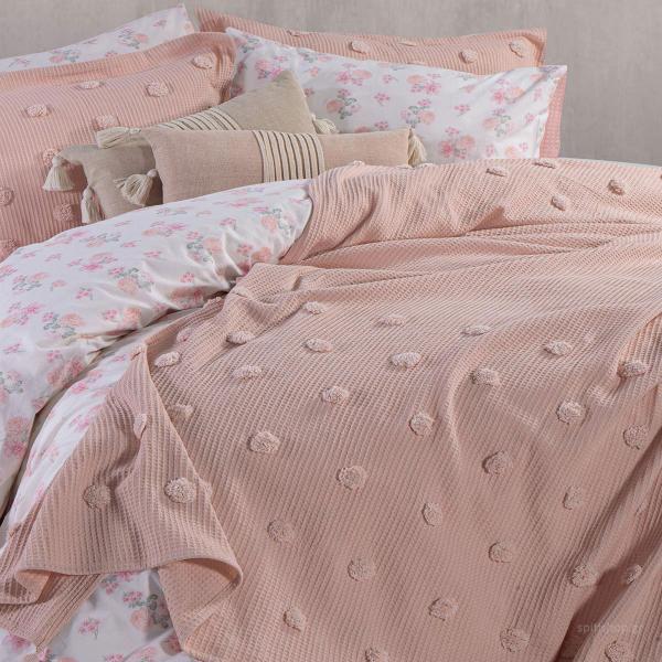 Κουβέρτα Πικέ Υπέρδιπλη Nef-Nef Indila Eng.Rose