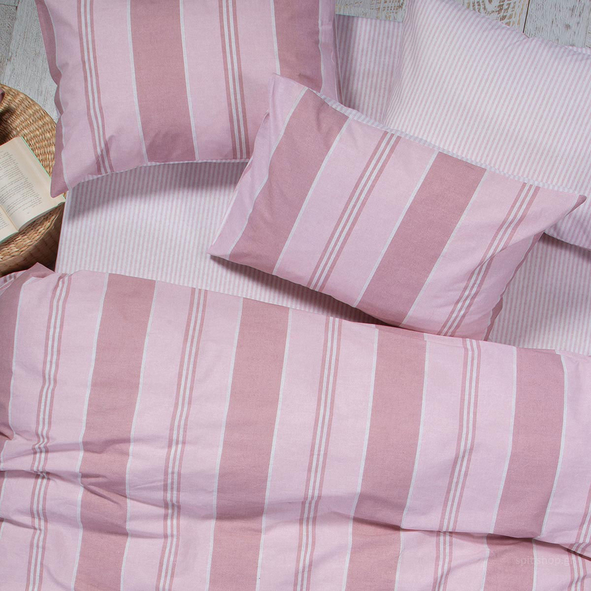 Σεντόνια Μονά (Σετ) Nef-Nef Smart Vertical Pink