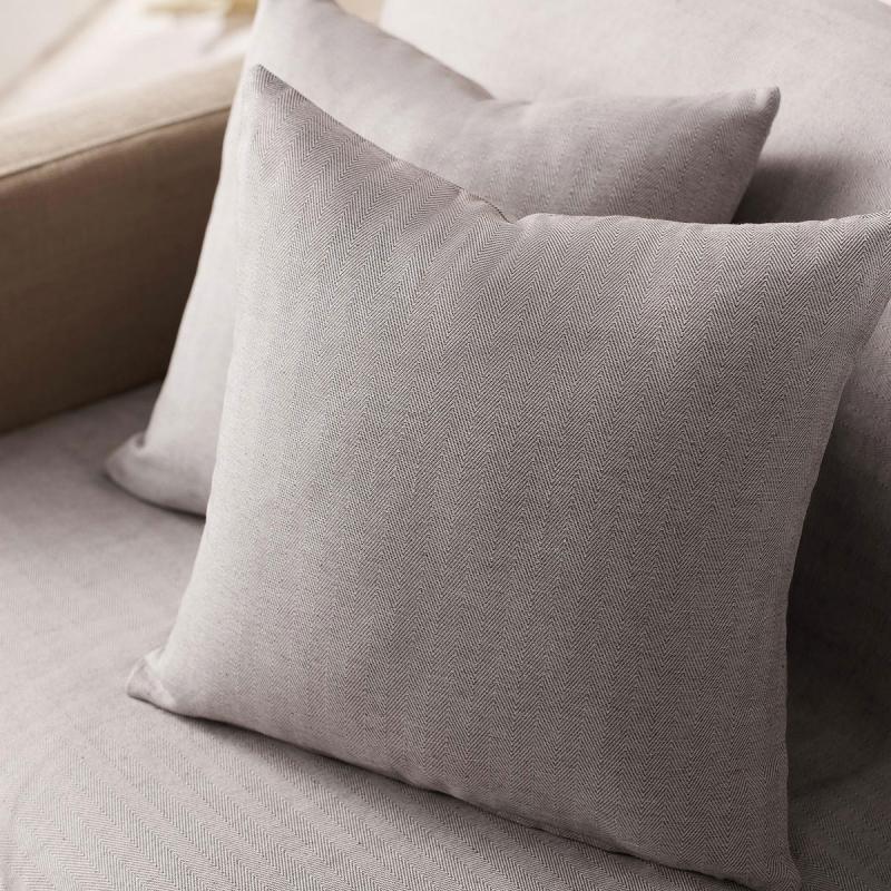 Διακοσμητική Μαξιλαροθήκη (50x50) Gofis Home Rene Grey 732/15