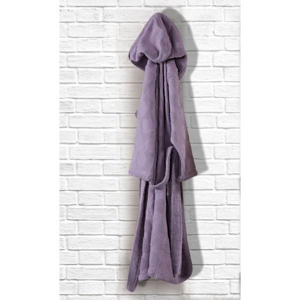 Μπουρνούζι Με Κουκούλα Nef-Nef Delicasy Purple
