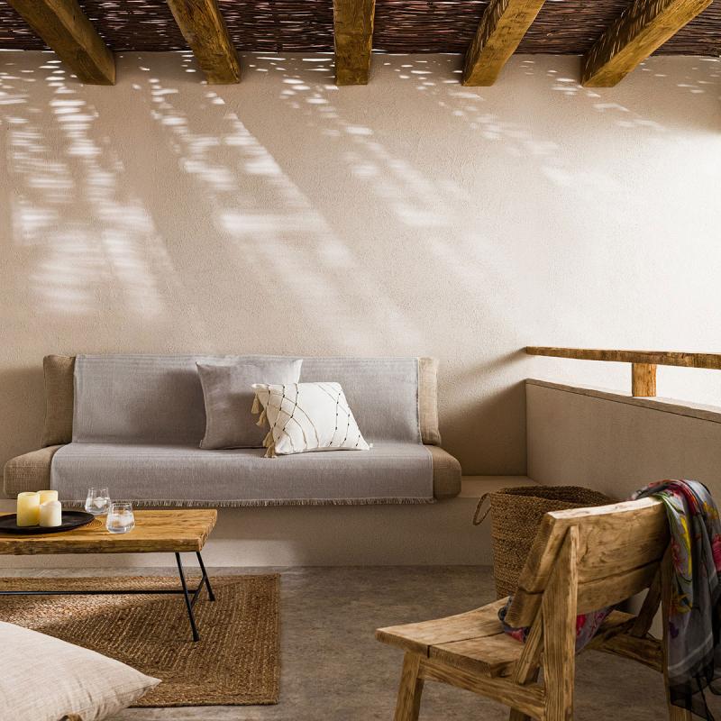 Ριχτάρι Πολυθρόνας (180x180) Gofis Home Rene Grey 732/15