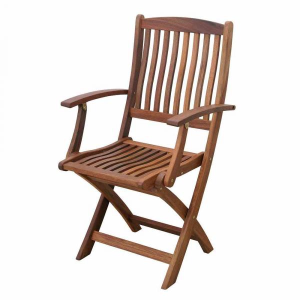 Καρέκλα Πτυσσόμενη Εξωτερικού Χώρου Με Μπράτσα Velco Acacia 188-4186
