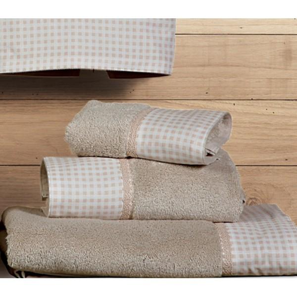 Πετσέτες Μπάνιου (Σετ 3τμχ) Nef-Nef Petit Carreau