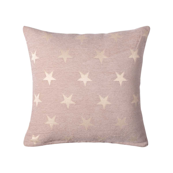 Διακοσμητική Μαξιλαροθήκη (45x45) Silk Fashion A802 Star Μπεζ