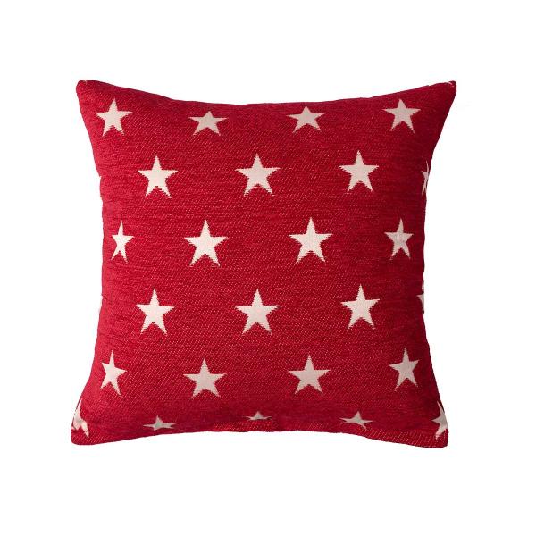 Διακοσμητική Μαξιλαροθήκη (45x45) Silk Fashion A802 Star Κόκκινο