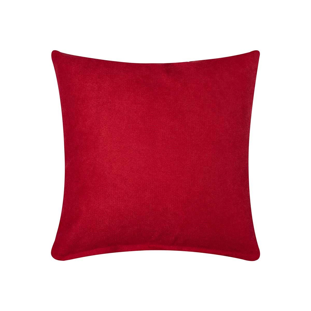 Διακοσμητική Μαξιλαροθήκη (45x45) Silk Fashion A802 Κόκκινο
