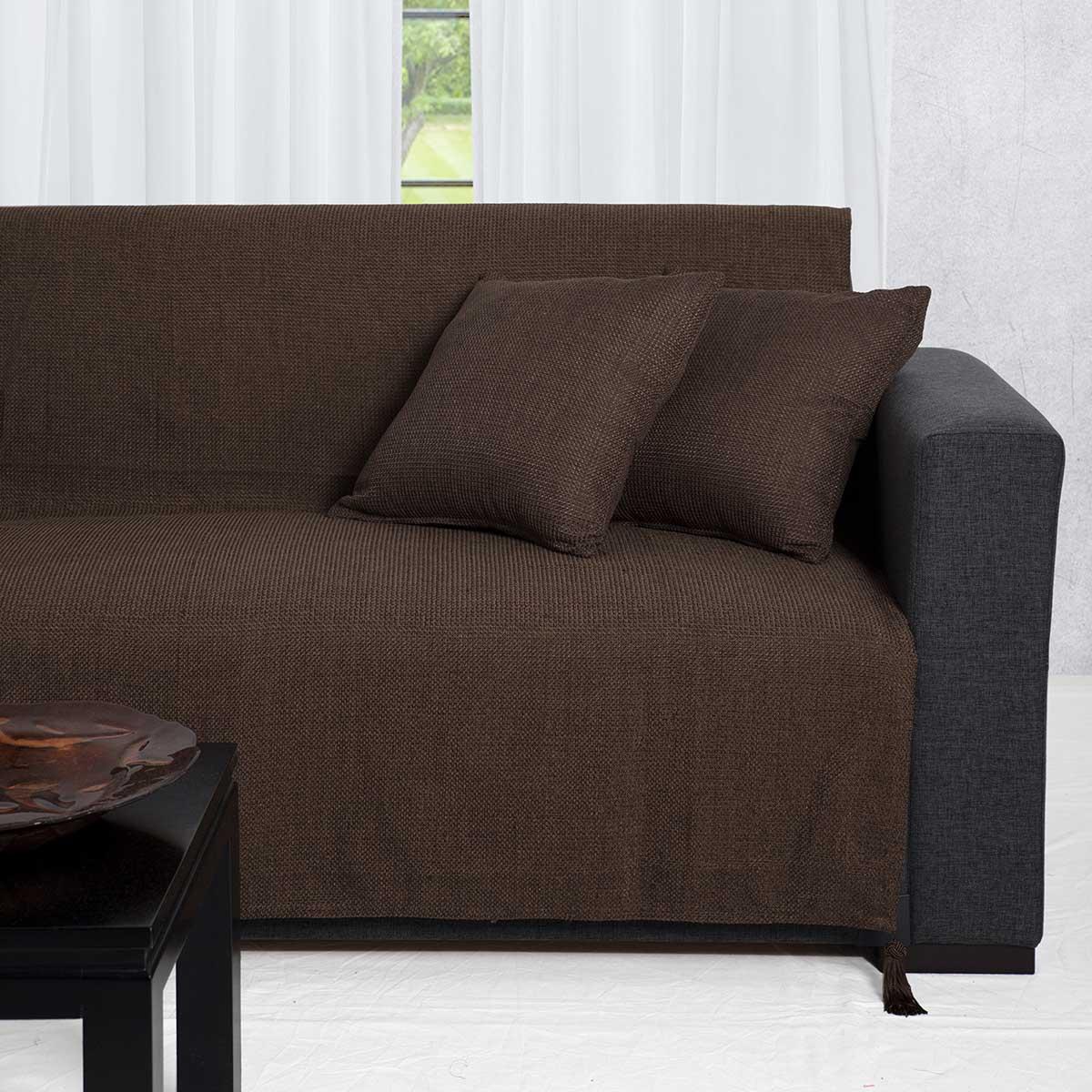 Ριχτάρι Διθέσιου (180x250) Silk Fashion 9925 Καφέ
