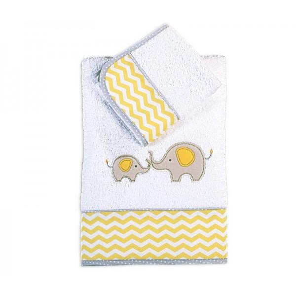 Βρεφικές Πετσέτες (Σετ 2τμχ) Nef-Nef Baby Sweet As Elephant