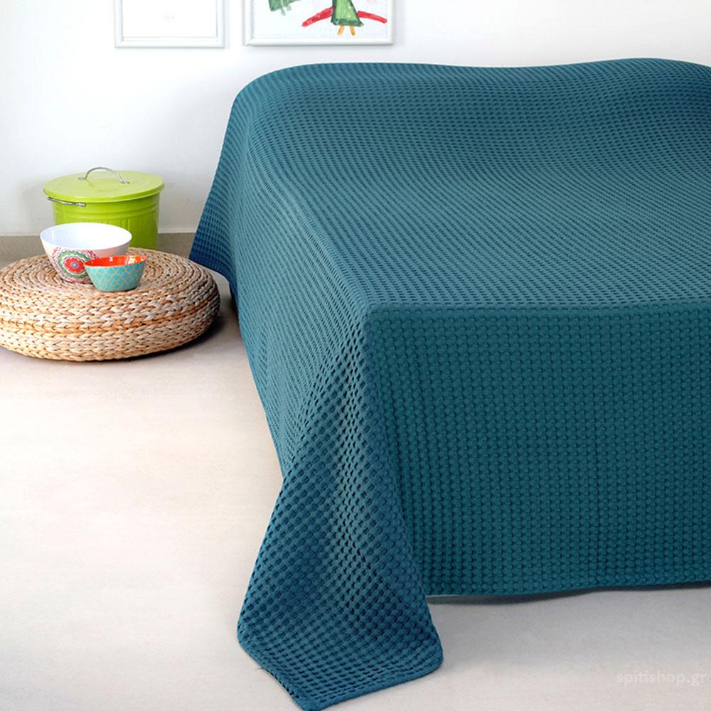 Κουβέρτα Πικέ Μονή Melinen Patmos20 Blue