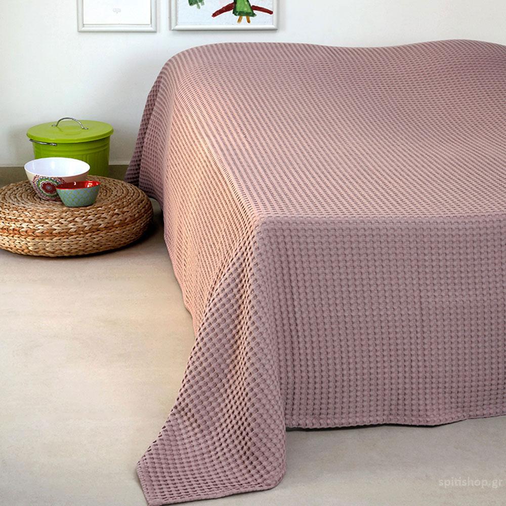 Κουβέρτα Πικέ Μονή Melinen Patmos20 Ash