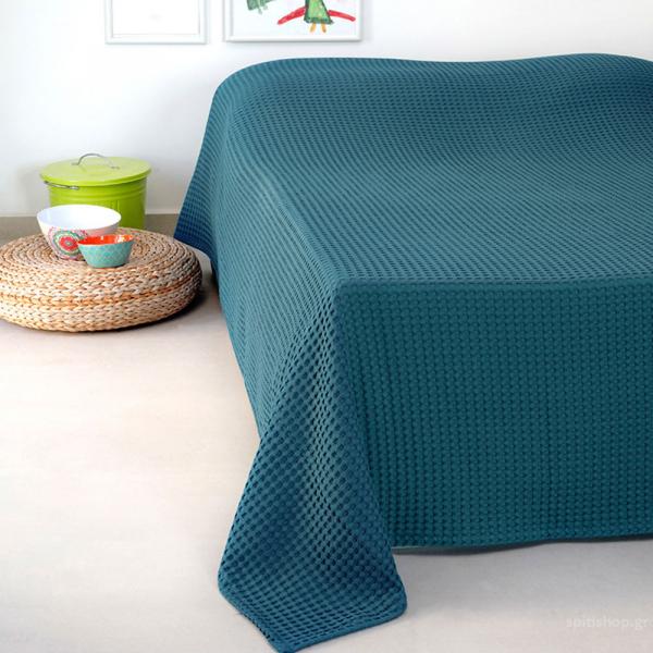 Κουβέρτα Πικέ Υπέρδιπλη Melinen Patmos20 Blue