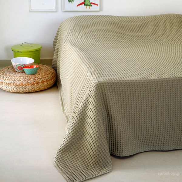 Κουβέρτα Πικέ Υπέρδιπλη Melinen Patmos20 Olive