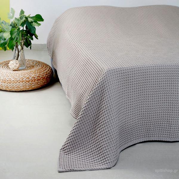 Κουβέρτα Πικέ Υπέρδιπλη Melinen Patmos20 Light Grey