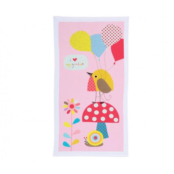 Βρεφική Πετσέτα Σώματος (70x140) Nef-Nef Baby My Garden Pink