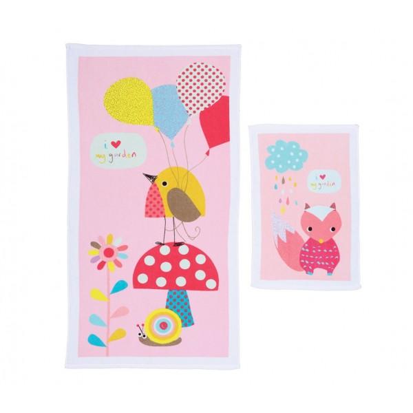 Βρεφικές Πετσέτες (Σετ 2τμχ) Nef-Nef Baby My Garden Pink