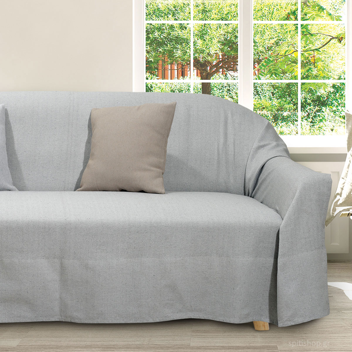 Ριχτάρι Διθέσιου (180×250) Das Home Throws Line 0181 Grey