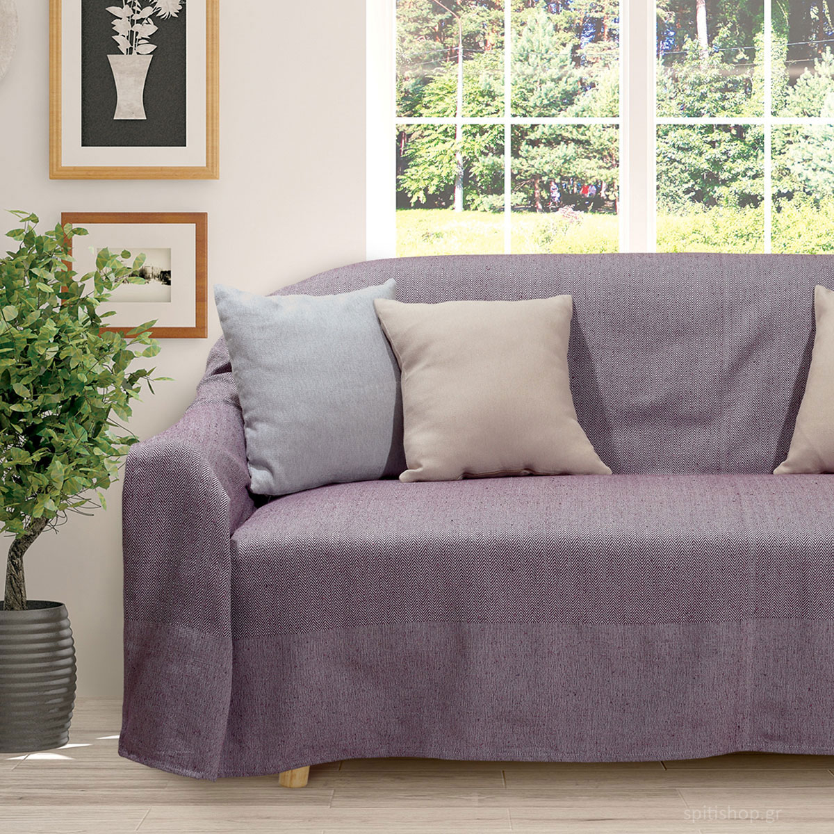 Ριχτάρι Διθέσιου (180×250) Das Home Throws Line 0184 Purple