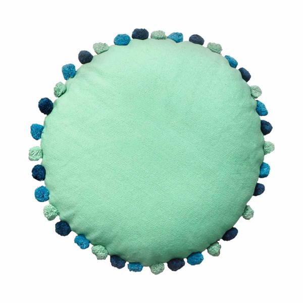 Στρογγυλή Μαξιλάρα Δαπέδου Palamaiki Sprinkle Mint