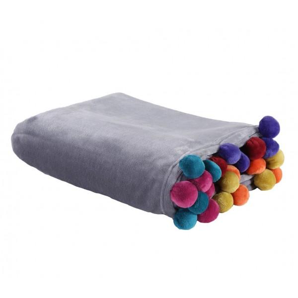 Ριχτάρι Τριθέσιου (180x300) Nef-Nef Pom Pom Grey