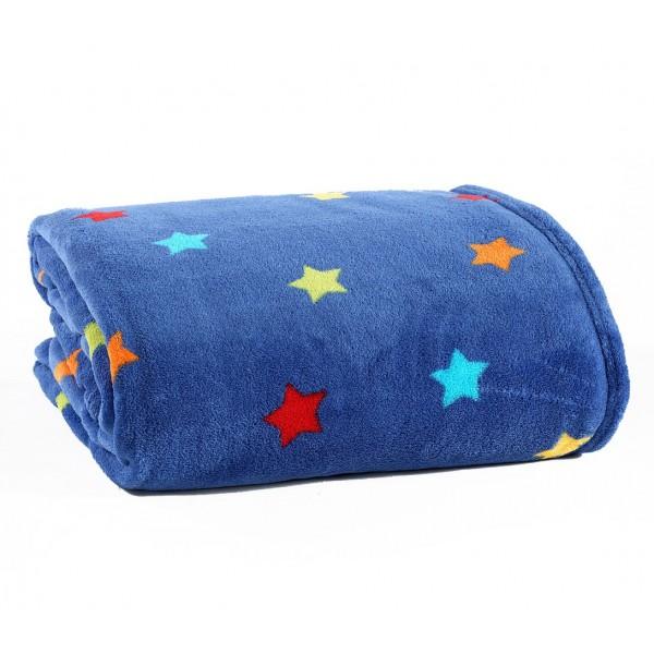 Κουβέρτα Fleece Μονή Nef-Nef Kid Line Stellar Blue