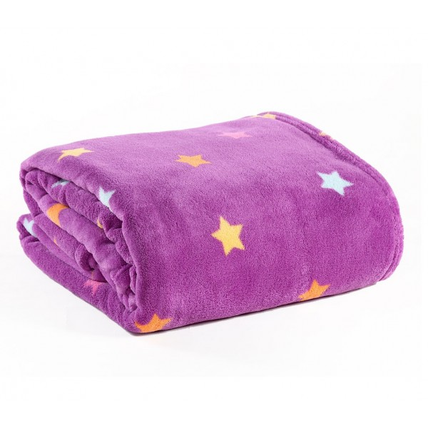Κουβέρτα Fleece Μονή Nef-Nef Kid Line Stellar Purple