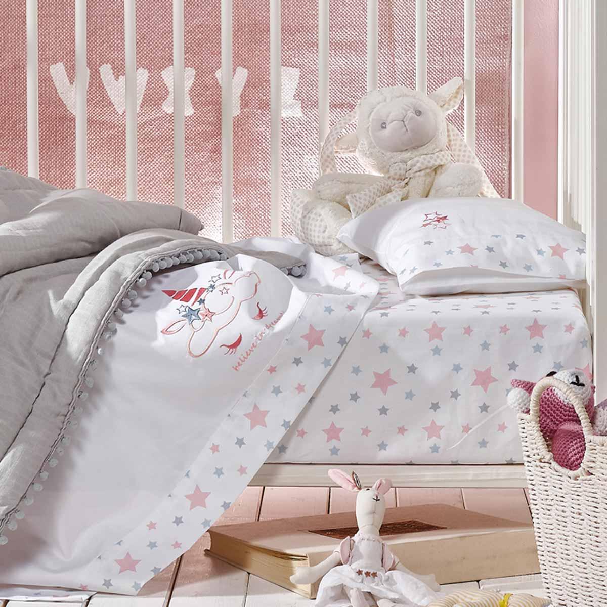 Σεντόνια Κούνιας (Σετ) Kentia Baby Unistar