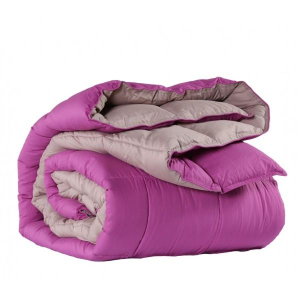 Πάπλωμα Μονό Διπλής Όψης Nef-Nef Bicolor Purple-Beige