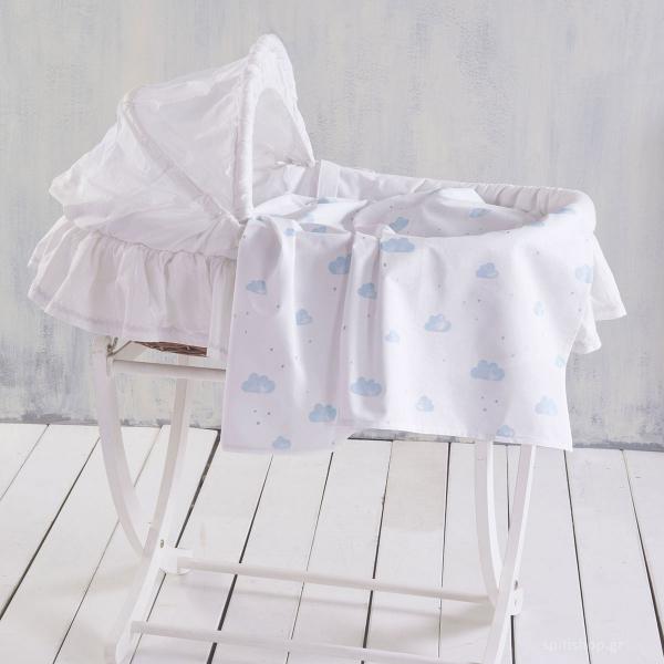 Σεντόνι Λίκνου Rythmos Baby Clouds Blue