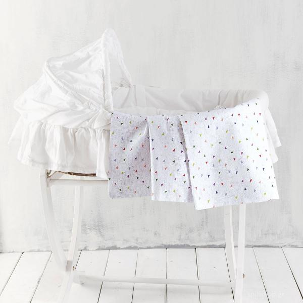 Σεντόνι Λίκνου Rythmos Baby Confetti Grey