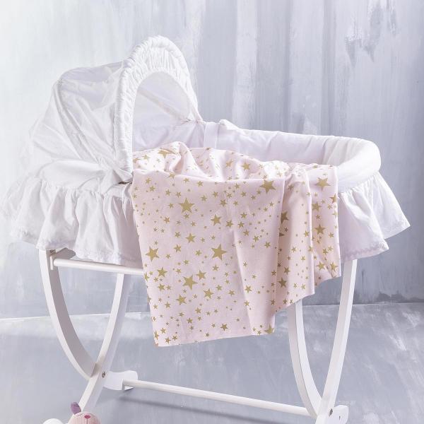 Σεντόνι Λίκνου Rythmos Baby Estella Pink
