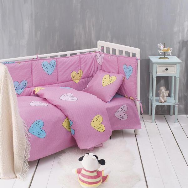 Σεντόνι Λίκνου Rythmos Baby Libi Pink