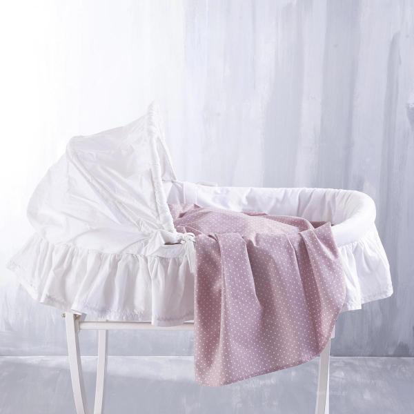 Σεντόνι Λίκνου Rythmos Baby Dotty Pink