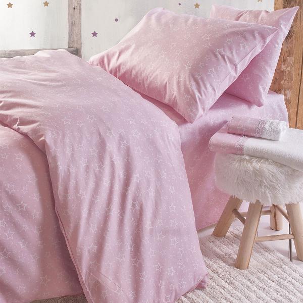 Ζεύγος Παιδικές Μαξιλαροθήκες Rythmos Symbol Bright Pink