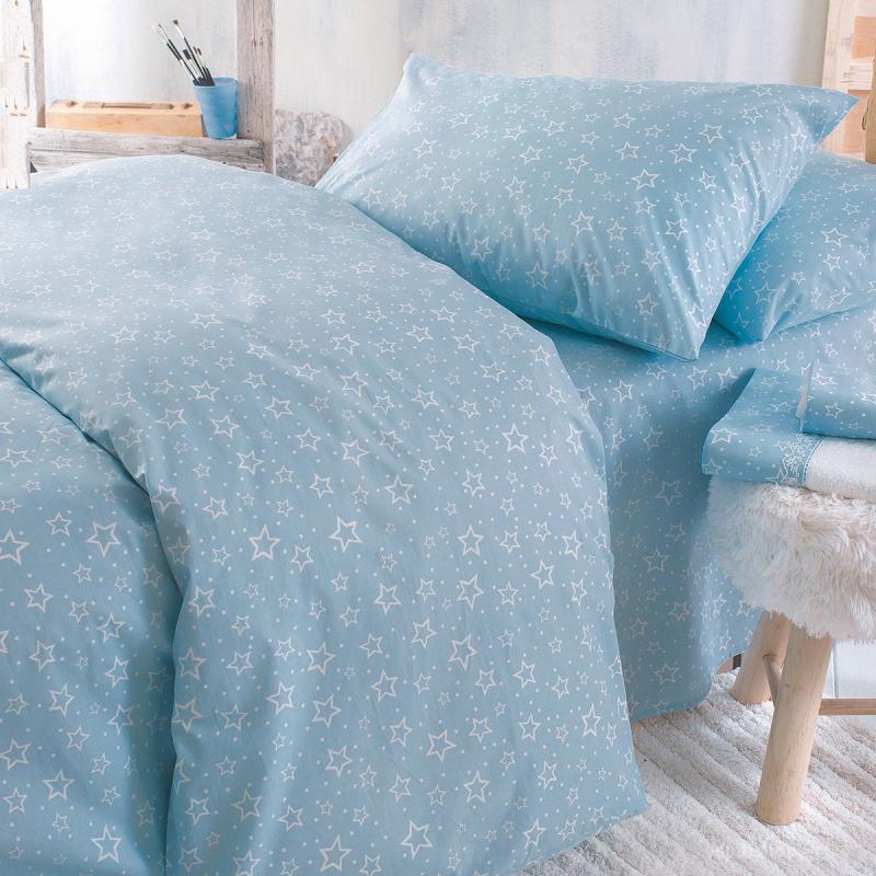 Ζεύγος Παιδικές Μαξιλαροθήκες Rythmos Symbol Bright Blue
