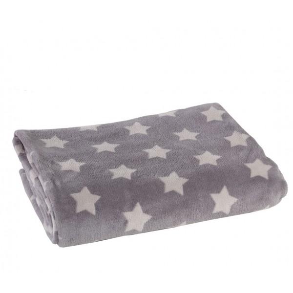 Κουβέρτα Fleece Υπέρδιπλη Nef-Nef Night Stars Grey