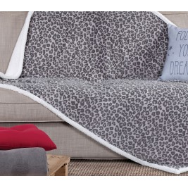 Κουβέρτα Καναπέ Με Γουνάκι Nef-Nef Animal Grey