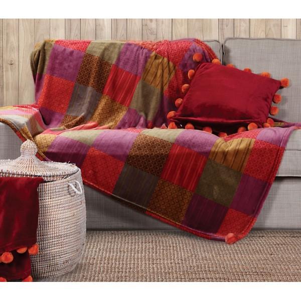Κουβέρτα Καναπέ Nef-Nef Patch